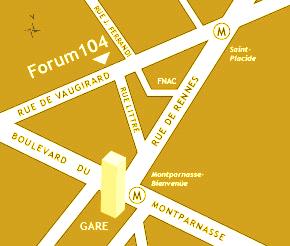 Carte d'accès au Forum 104